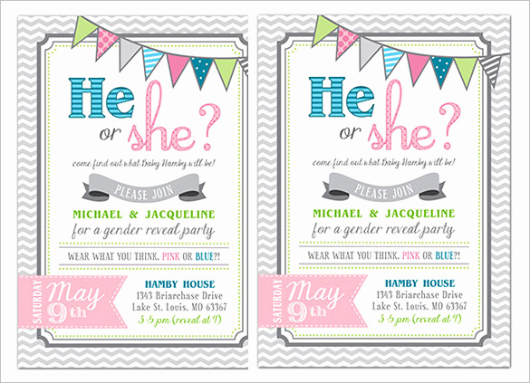 Gender Reveal Invitation Template Beautiful Gender Reveal Invitation Template – 34 Free Psd Eps