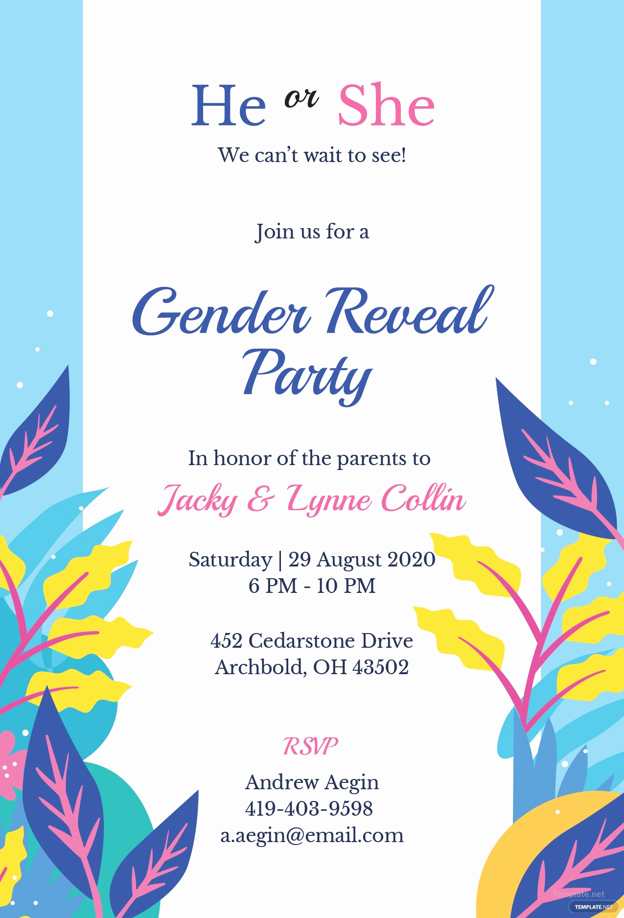 Gender Reveal Invitation Template Best Of Free Gender Reveal Invitation Template In Microsoft Word