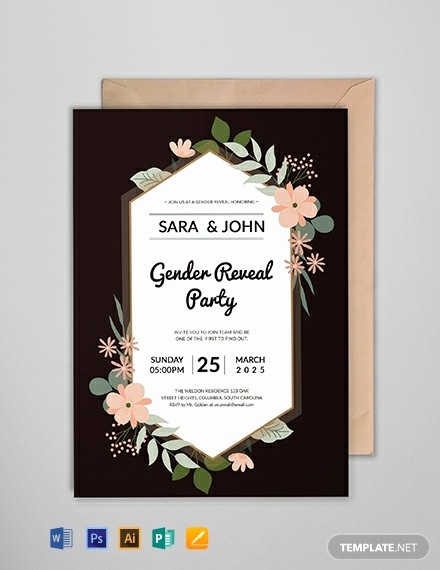 Gender Reveal Invitation Template Elegant Free Gender Reveal Party Invitation Template Download 697