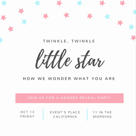 Gender Reveal Invitation Template Lovely Customize 29 Gender Reveal Invitation Templates Online