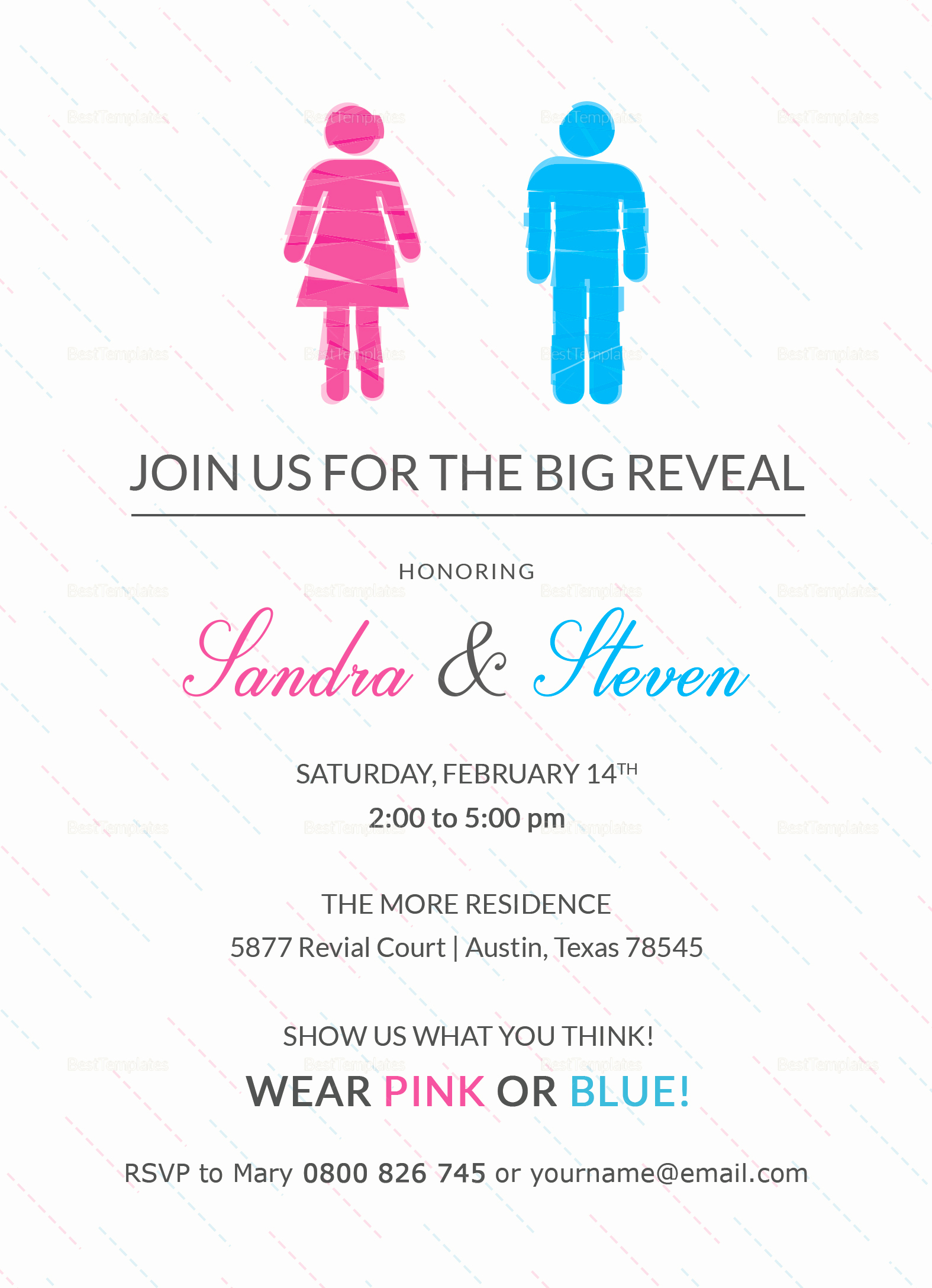 Gender Reveal Invitation Template Lovely Gender Reveal Invitation Design Template In Word Psd