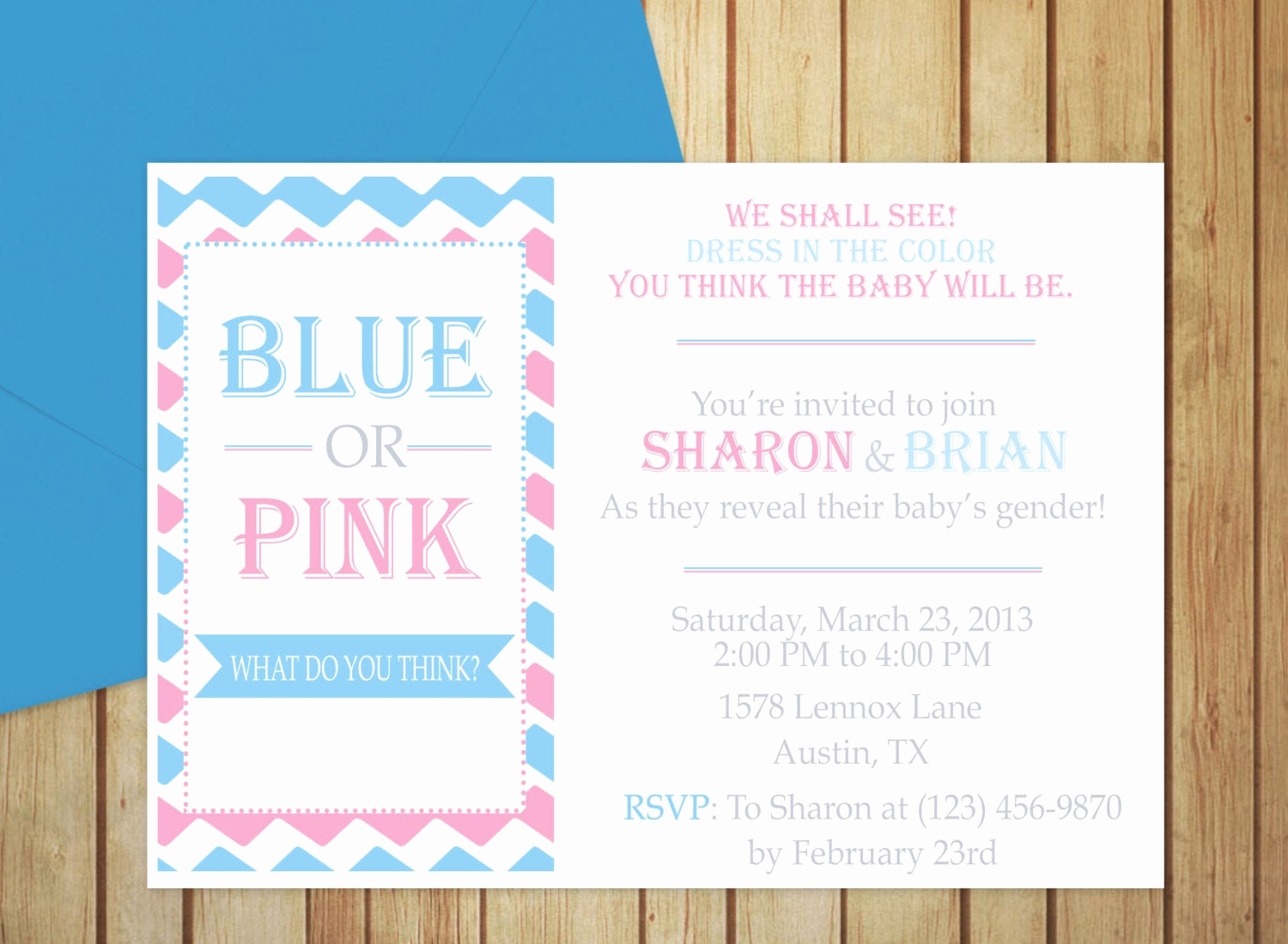 Gender Reveal Invitation Template Lovely Printable Gender Reveal Invitation Editable Template