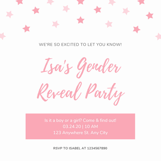 Gender Reveal Invitation Template New Customize 22 Gender Reveal Invitation Templates Online