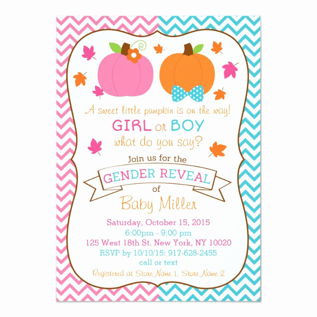 Gender Reveal Invitation Template Unique Personalized Gender Reveal Invitations