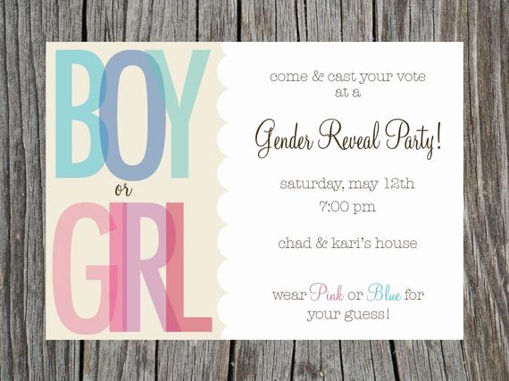 Gender Reveal Invitation Wording Lovely Items Similar to Gender Reveal Party Invitation Printable