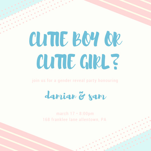 Gender Reveal Invitation Wording New Gender Reveal Invitation Templates Canva