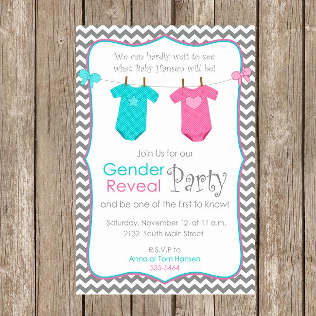 Gender Reveal Invitation Wording Unique Gender Reveal Invitation Baby Reveal Invite Printable