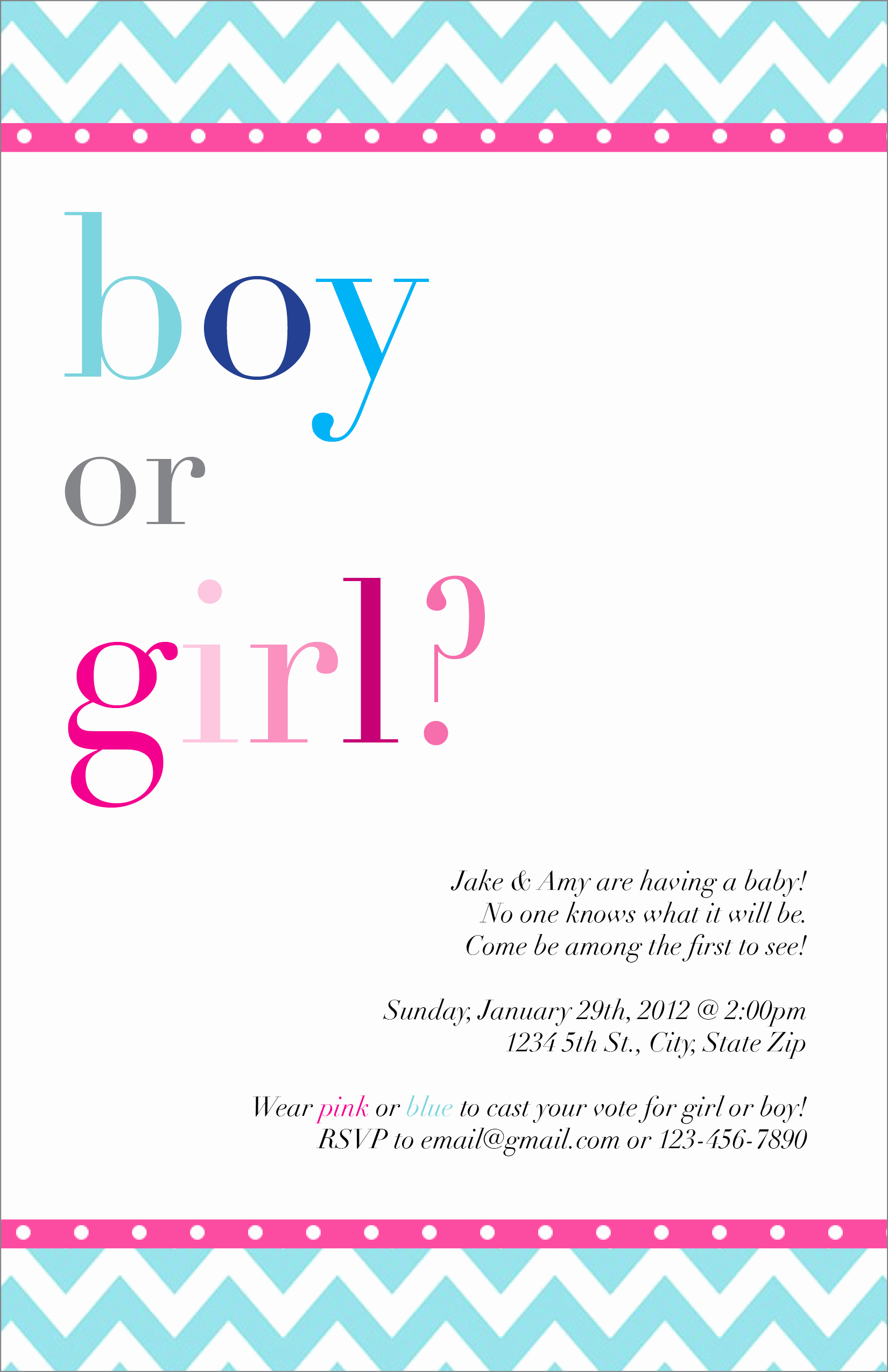 Gender Reveal Party Invitation Wording Awesome Gender Reveal Party