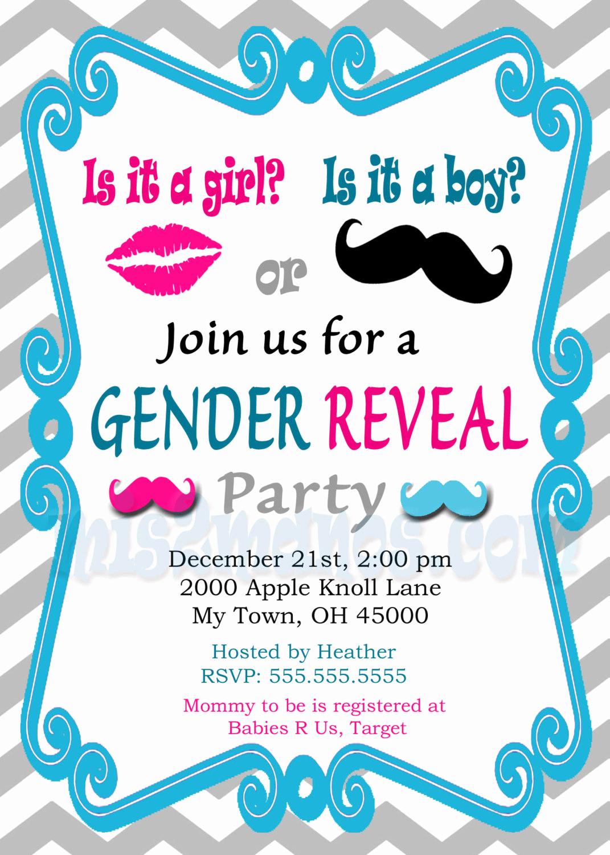 Gender Reveal Party Invitation Wording Beautiful Gender Reveal Invitation Baby Shower Invites Printable Diy
