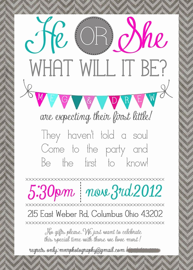 Gender Reveal Party Invitation Wording Lovely Lets Just Celebrate Invite Love It