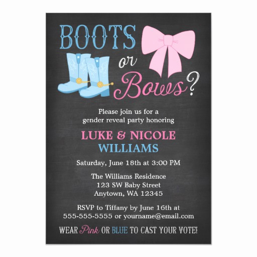 Gender Reveal Party Invitation Wording Luxury Baby Gender Reveal Party Invitations and Party Ideas