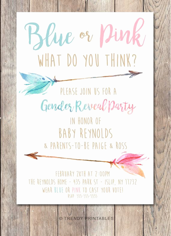 Gender Reveal Party Invitation Wording New Best 25 Gender Reveal Invitations Ideas On Pinterest