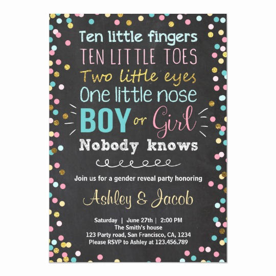 Gender Reveal Party Invitation Wording New Gender Reveal Invitation Baby Shower Boy or Girl