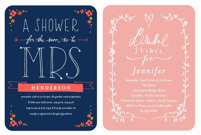 Gift Card Invitation Wording Awesome Bridal Shower Invitations From Wedding Paper Divas