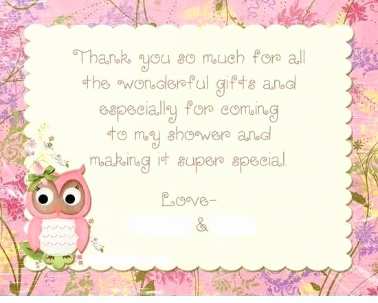 Gift Card Invitation Wording Best Of Thank You Wording for Baby Gift Notes Shower Gifts Samples