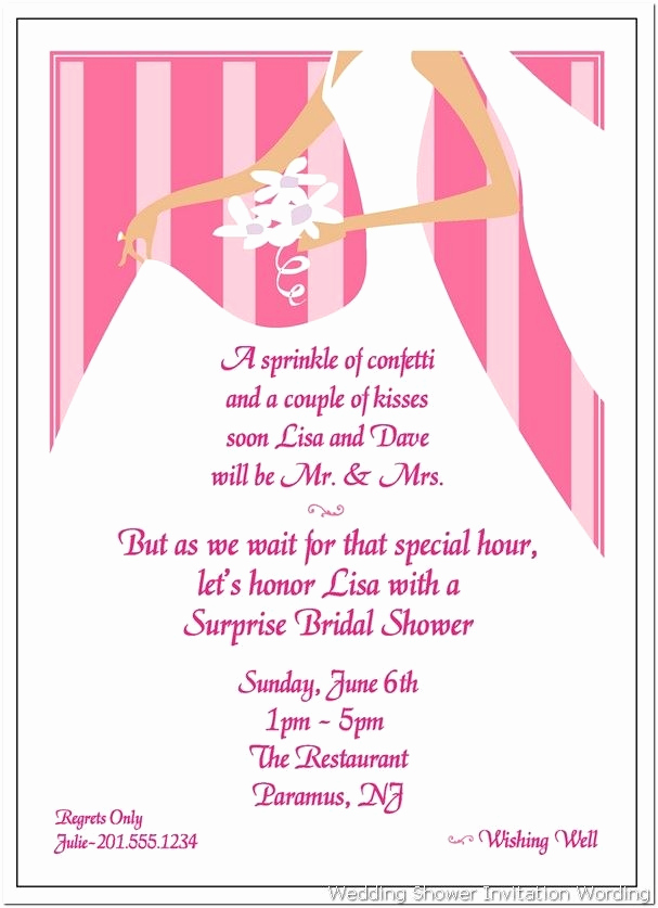 Gift Card Invitation Wording Fresh Cool Surprise Bridal Shower Invitation Templates