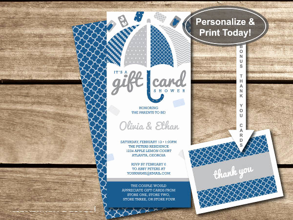 Gift Card Invitation Wording Luxury 7 Baby Shower Gift Cards Free Psd Vector Eps Png