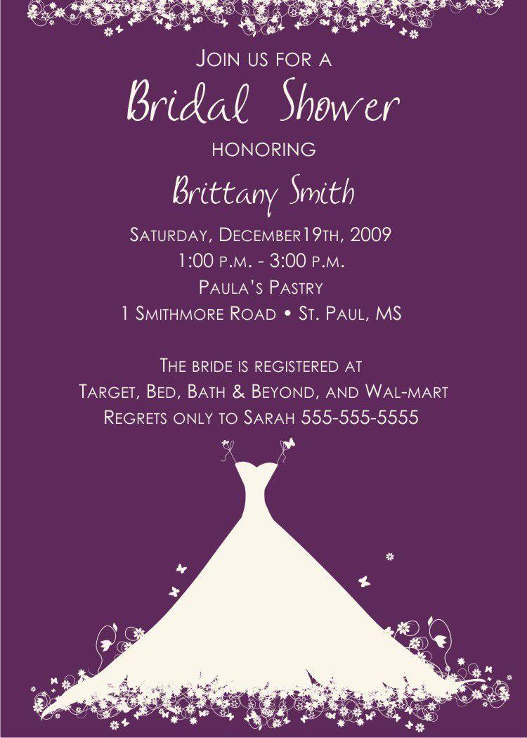 Gift Card Invitation Wording Unique Bridal Shower Invitation Wording T Cards Only
