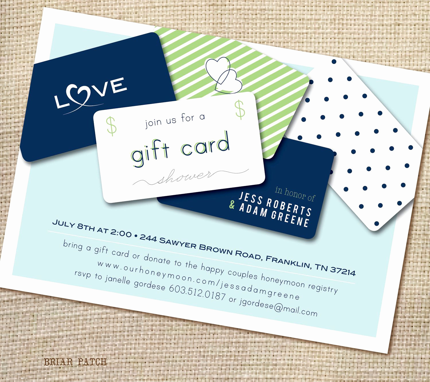 Gift Card Invitation Wording Unique T Card Bridal Shower Invitation Wording