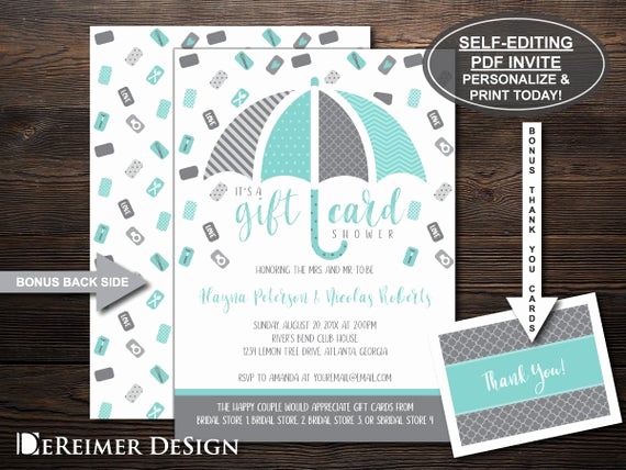 Gift Card Shower Invitation Fresh Gift Card Shower Invitation Wedding Shower Bridal Shower