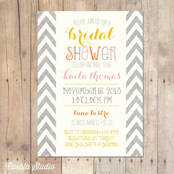 Gift Card Shower Invitation Unique Items Similar to Summer Autumn Mustard Chevron Bridal