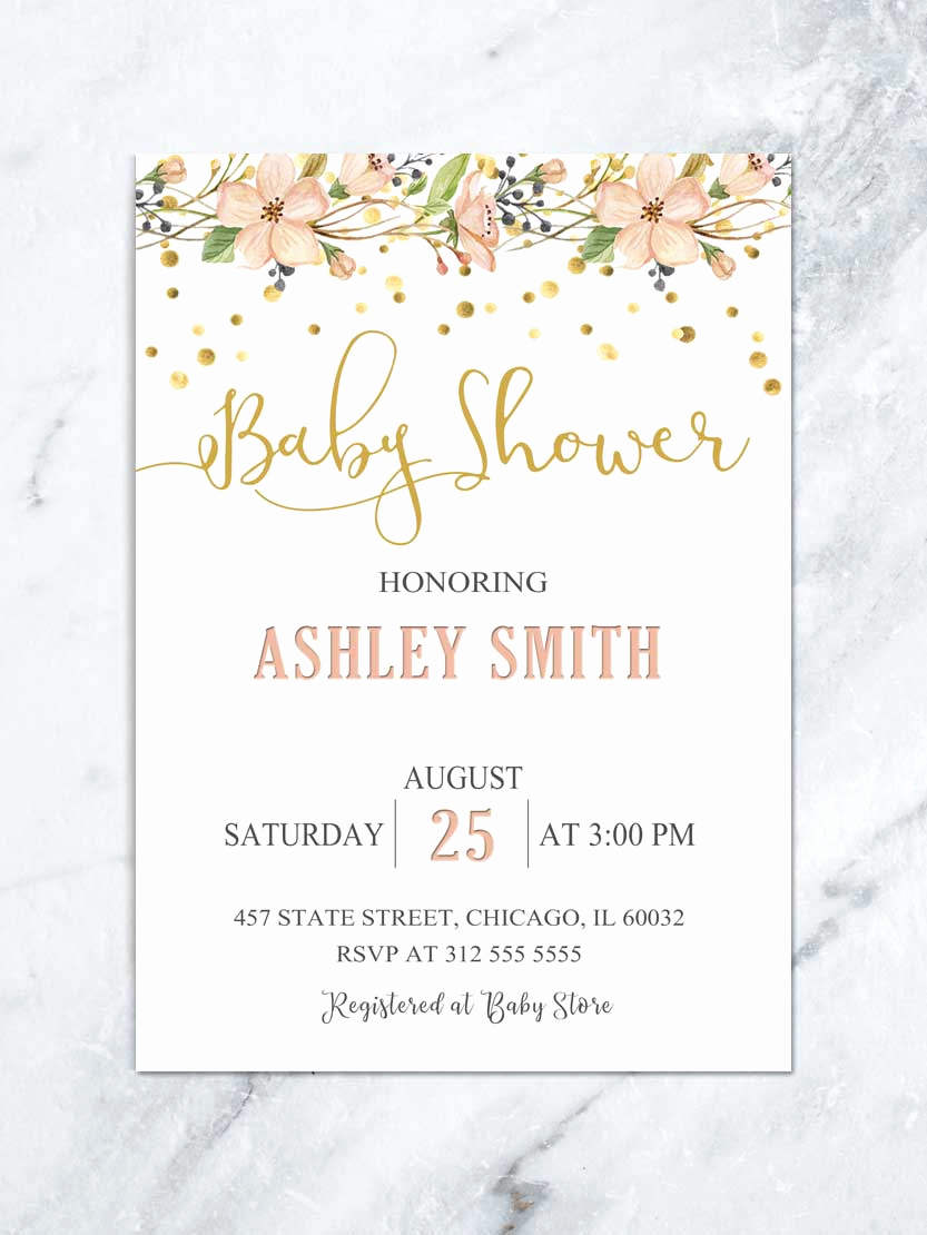 Girl Baby Shower Invitation Beautiful Floral Baby Shower Invitation Garden Baby Shower Luncheon