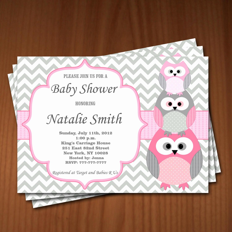 Girl Baby Shower Invitation Beautiful Owl Baby Shower Invitation Girl Baby Shower Invitations