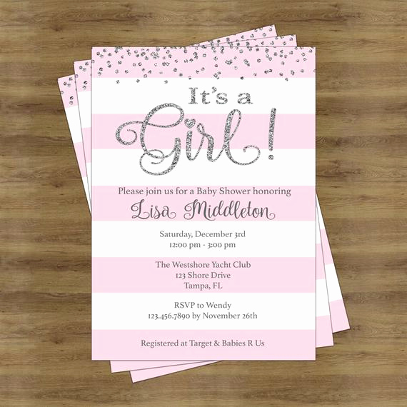 Girl Baby Shower Invitation Best Of Its A Girl Baby Shower Invitation Girl Baby Shower Invitation