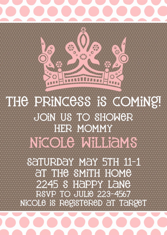 Girl Baby Shower Invitation Inspirational Baby Girl Shower Invitation Princess is Ing