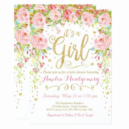 Girl Baby Shower Invitation Inspirational Girly Cute Pink Girl Baby Shower Invitations & Party Ideas
