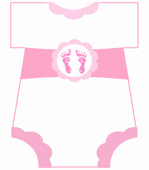 Girl Baby Shower Invitation Templates Awesome Free Baby Footprint Template Download Free Clip Art Free