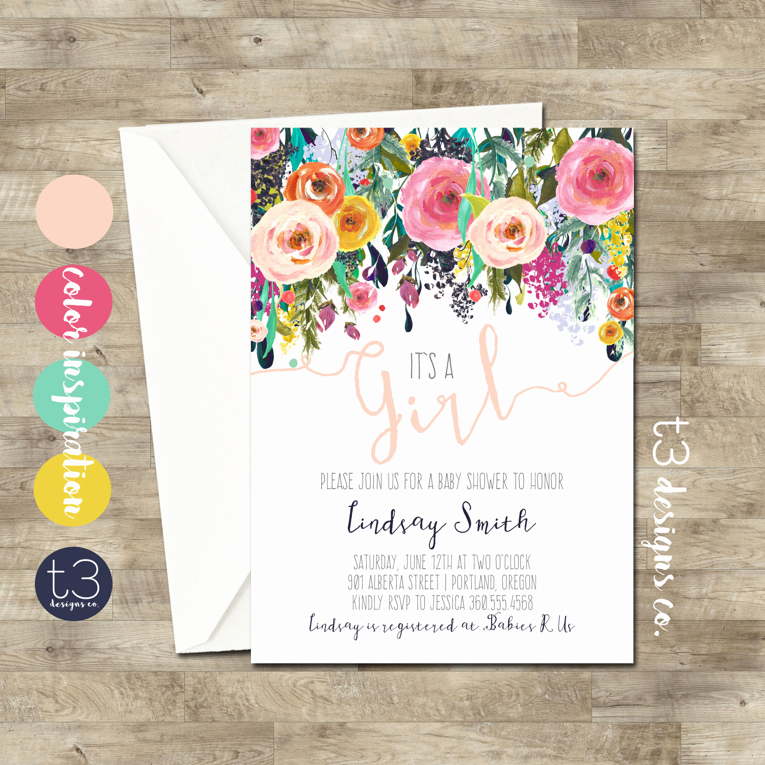 Girl Baby Shower Invitation Templates Awesome Whimsical Girl Baby Shower Invitation Girl Baby Shower
