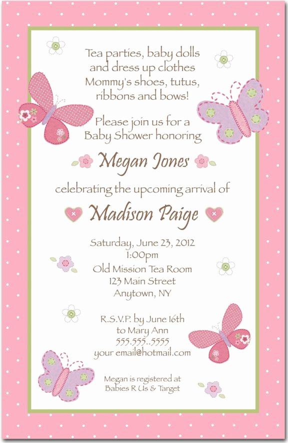 Girl Baby Shower Invitation Templates Beautiful Baby Shower Invitations Wording Ideas