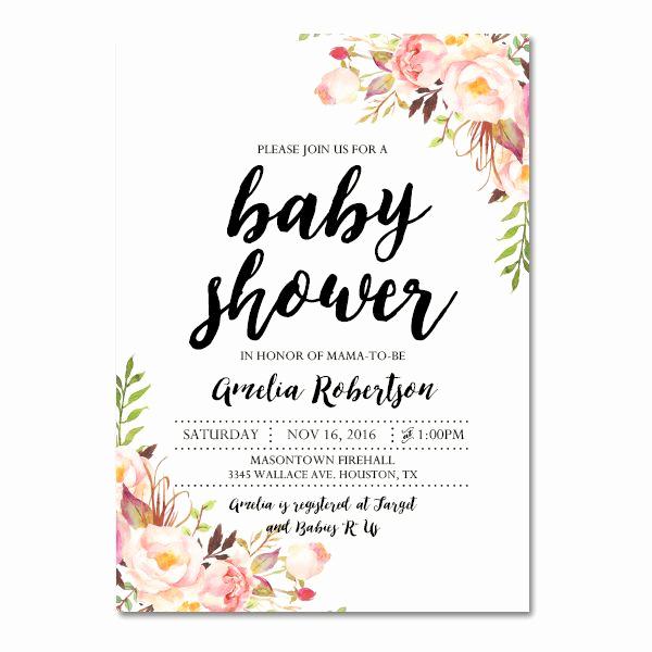 Girl Baby Shower Invitation Templates Beautiful Editable Pdf Baby Shower Invitation Diy – Elegant Vintage
