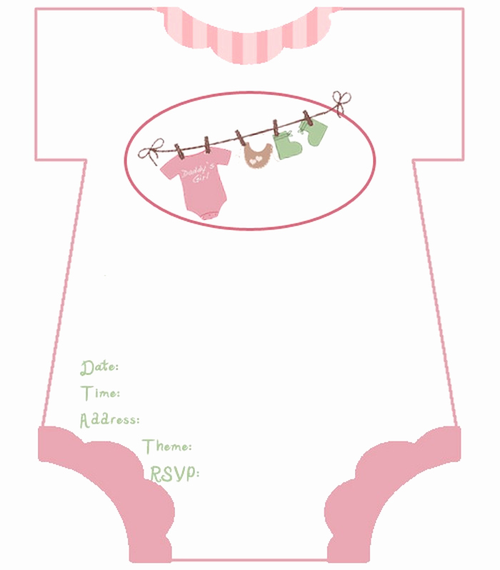 Girl Baby Shower Invitation Templates Best Of Diaper Baby Shower Invitations Free Template