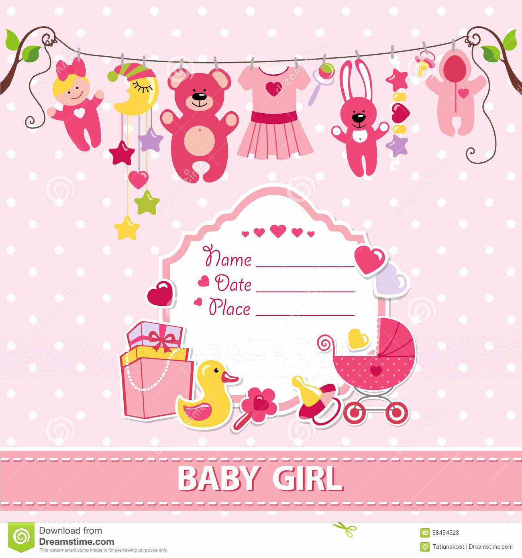 Girl Baby Shower Invitation Templates Lovely Baby Girl Invitation Templates