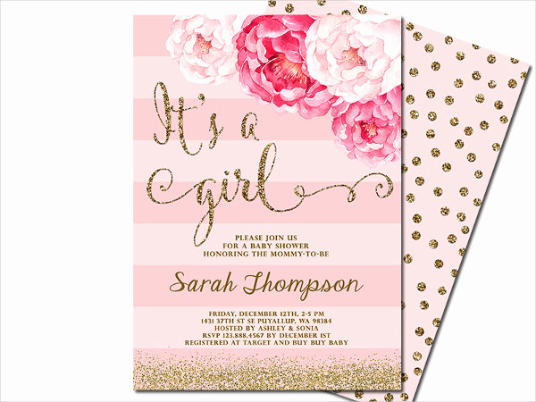 Girl Baby Shower Invitation Templates Unique 63 Unique Baby Shower Invitations Word Psd Ai