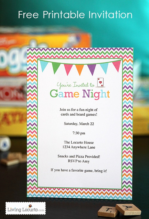 Girls Night Invitation Rhymes Awesome Game Night Party Ideas