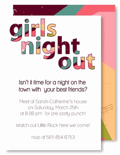 Girls Night Invitation Rhymes Awesome Love the Cut Out Wording Rl Birthday Invitation