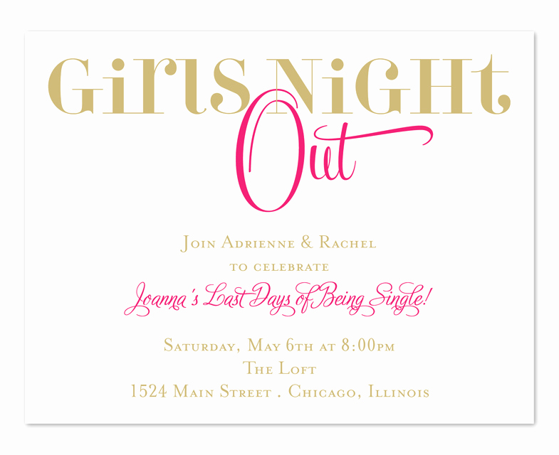 Girls Night Invitation Rhymes Beautiful Chic Girls Night Birthday Invitations by Invitation