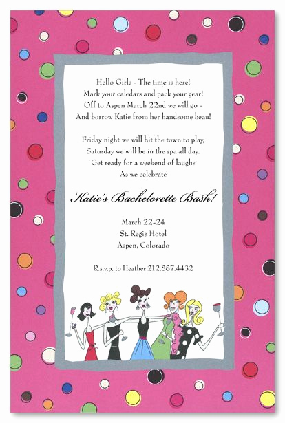 Girls Night Invitation Rhymes Best Of Girls Night Invitation Wording