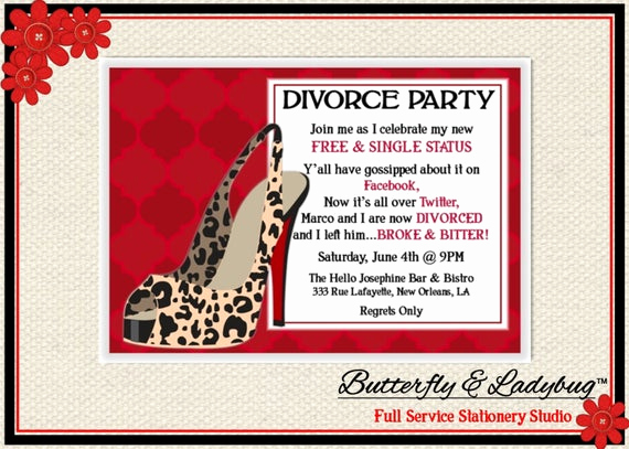 Girls Night Invitation Rhymes Best Of Items Similar to Leopard Stiletto High Heel Divorce