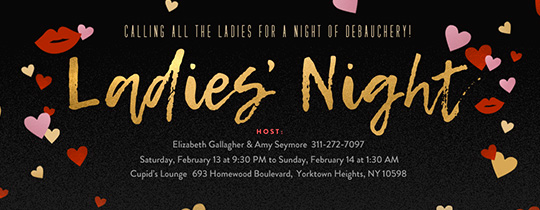 Girls Night Invitation Rhymes Elegant Free Girls Night Line Invitations