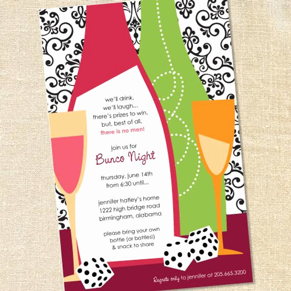 Girls Night Invitation Rhymes Elegant Sweet Wishes Girls Night Out Bunco Casino Party Invitations