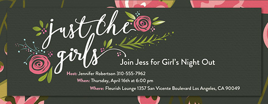 Girls Night Invitation Rhymes Fresh Free Bachelorette Party Invitations