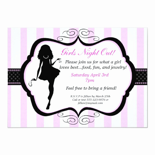 Girls Night Invitation Rhymes Fresh Girls Night Out Jewelry Party Invitation