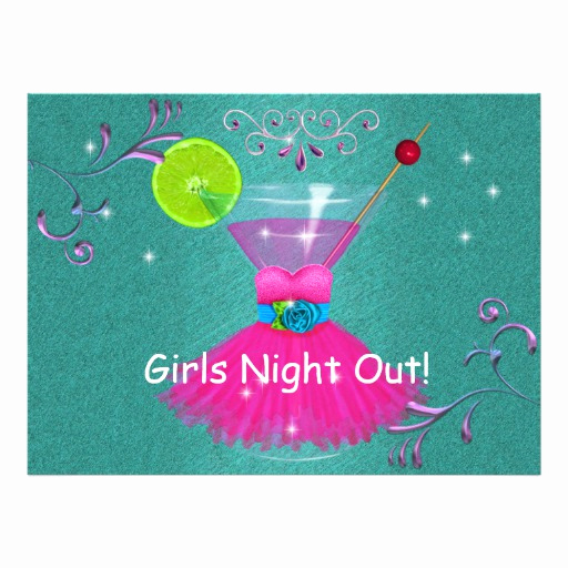 "Girls Night Out Invitation Awesome Girls Night Out Invitations with Dress & Cosmo 6 5"" X 8 75"