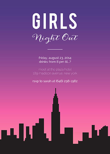 Girls Night Out Invitation Best Of Girls Night Out Invitations