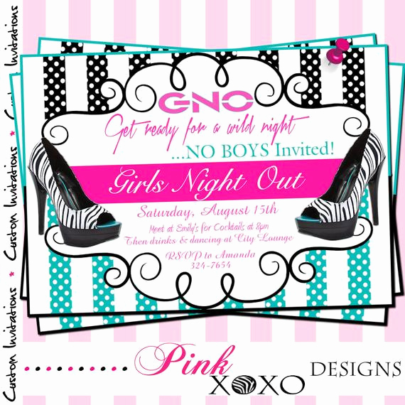 Girls Night Out Invitation Elegant Etsy Your Place to and Sell All Things Handmade