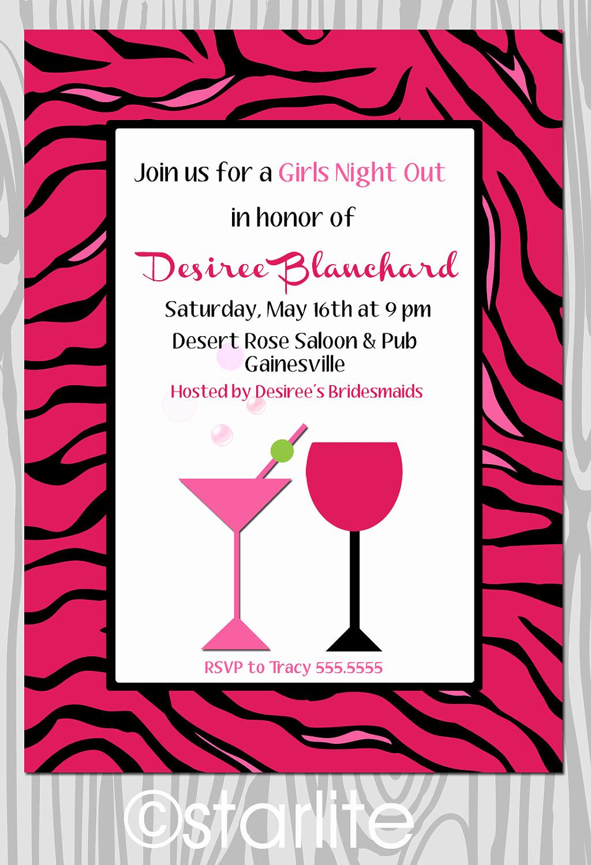 Girls Night Out Invitation Elegant Etsystatic Invitations